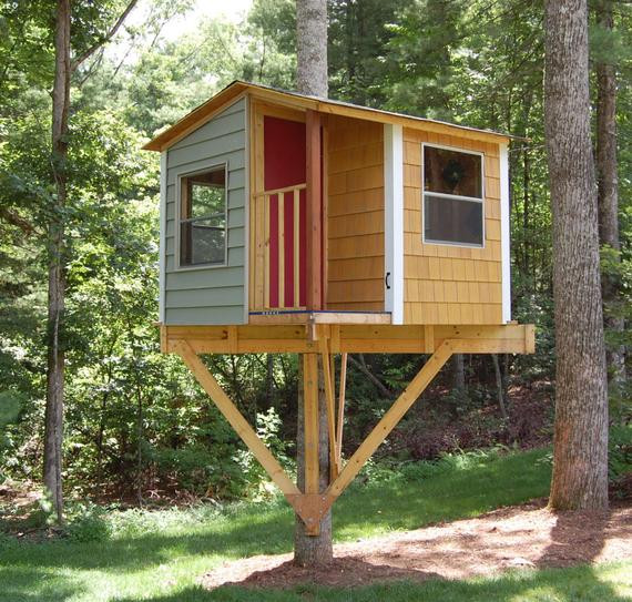 Best ideas about DIY Treehouse Plans Free . Save or Pin San Pedro treehouse DIY plans to fit a single tree Now.