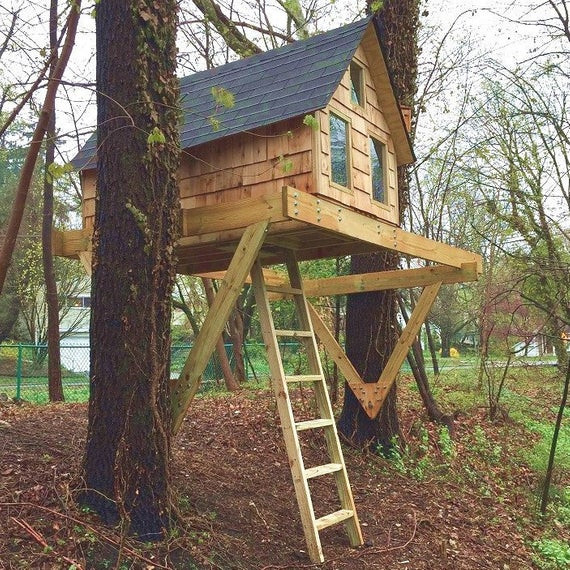 Best ideas about DIY Treehouse Plans Free . Save or Pin Alpino treehouse DIY plans for one or two trees Now.