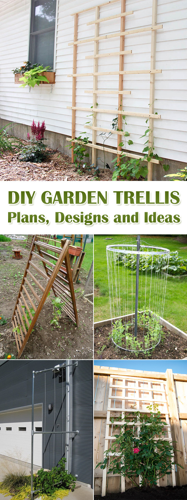 Best ideas about DIY Trellis Plans . Save or Pin 12 DIY Garden Trellis Plans Designs and Ideas Now.