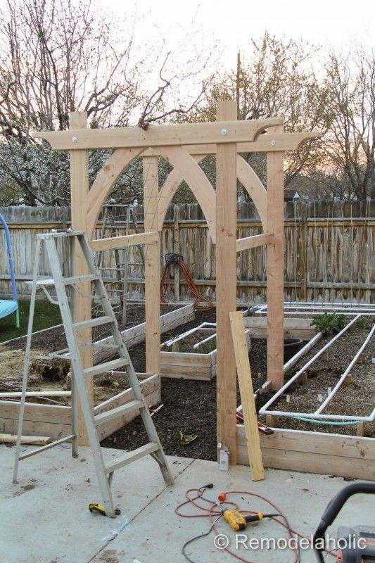 Best ideas about DIY Trellis Plans . Save or Pin Ve able Garden Arbor DIY Plans Now.