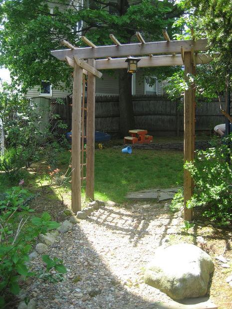 Best ideas about DIY Trellis Plans . Save or Pin Build a Wooden Garden Arbor Now.