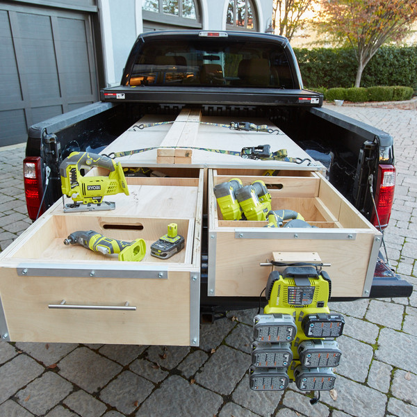 Best ideas about DIY Truck Bed Organizer . Save or Pin Truck Bed Workstation RYOBI Nation Projects Now.
