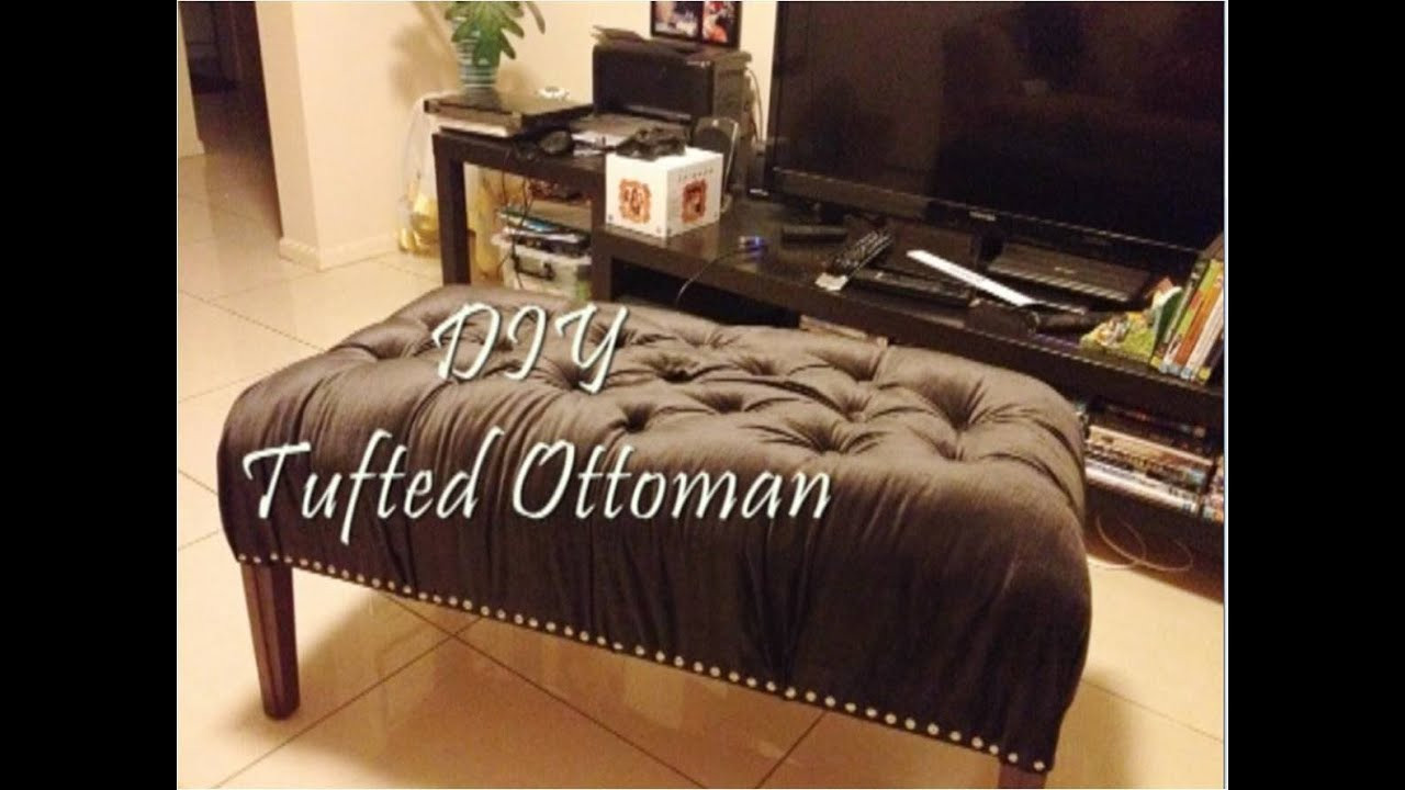 Best ideas about DIY Tufted Bench . Save or Pin DIY tufted ottoman bench Now.