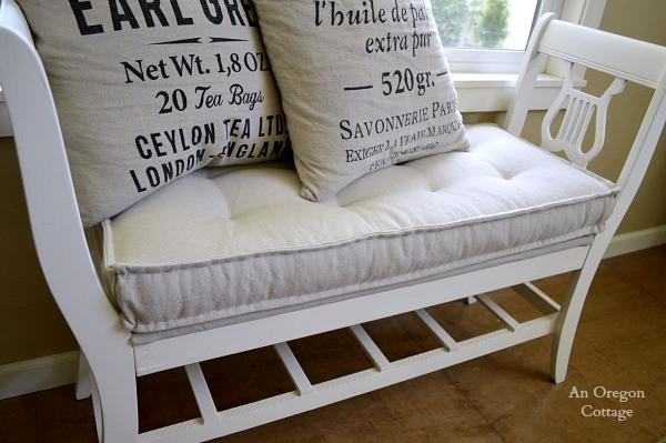 Best ideas about DIY Tufted Bench . Save or Pin DIY Tufted French Mattress Cushion Ballard Catalog Knockoff Now.