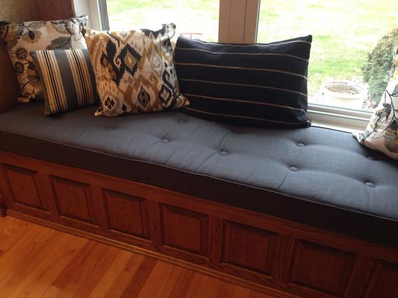Best ideas about DIY Tufted Bench Cushion . Save or Pin Custom Button tufted Window Seat Cushion with Cording Now.