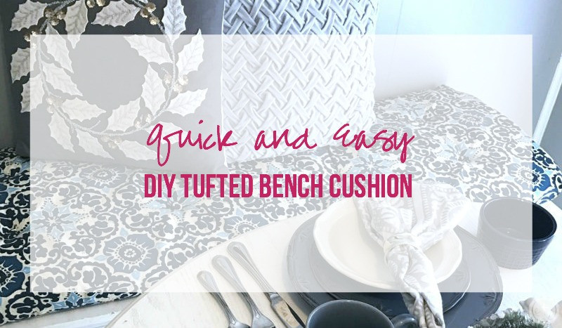 Best ideas about DIY Tufted Bench Cushion . Save or Pin Quick and Easy DIY Tufted Bench Cushion Happily Ever Now.