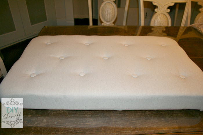 Best ideas about DIY Tufted Bench Cushion . Save or Pin How to Make a DIY Upholstered Tufted OttomanDIY Show f Now.