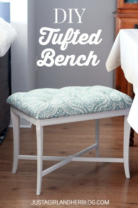 Best ideas about DIY Tufted Bench Cushion . Save or Pin DIY Tufted Bench Just a Girl and Her Blog Now.