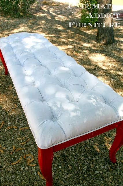Best ideas about DIY Tufted Bench Cushion . Save or Pin For us DIY Tufted Bench for the end of the bed Now.