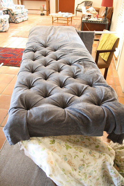Best ideas about DIY Tufted Bench Cushion . Save or Pin Involving the Senses DIY Button Tufted Headboard Now.
