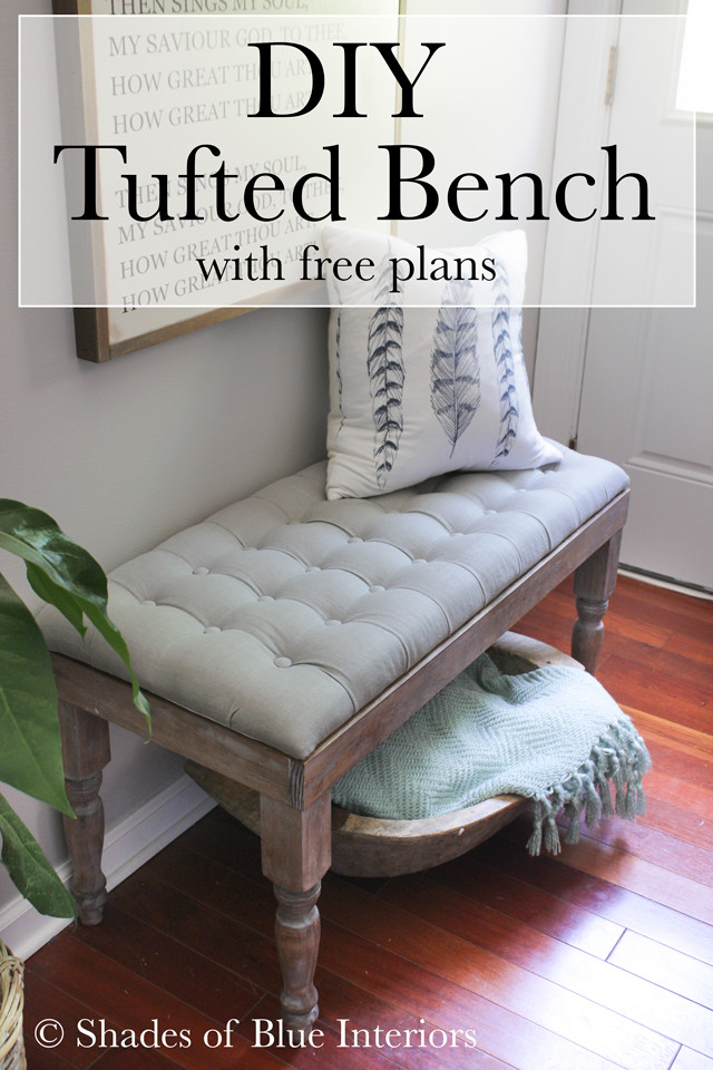 Best ideas about DIY Tufted Bench . Save or Pin DIY Tufted Bench Shades of Blue Interiors Now.