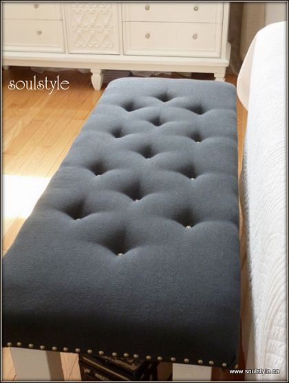 Best ideas about DIY Tufted Bench . Save or Pin DIY button tufted upholstery she took an old coffee table Now.