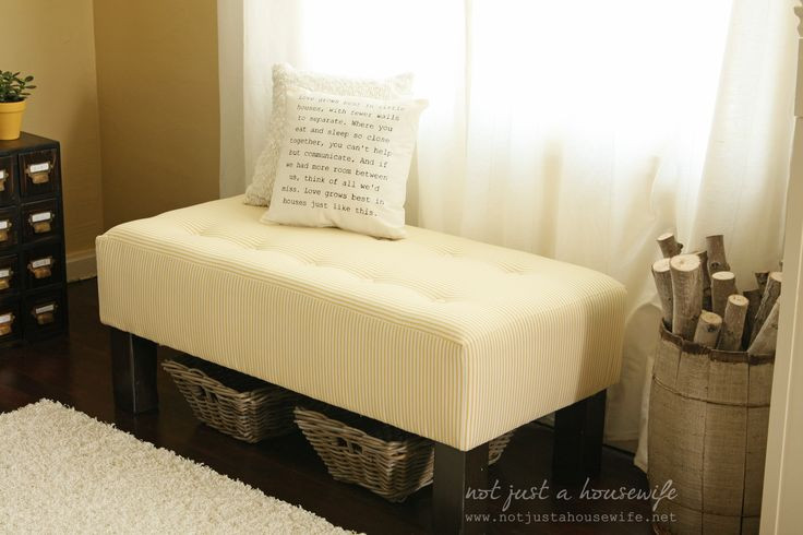Best ideas about DIY Tufted Bench . Save or Pin DIY upholstered bench Now.