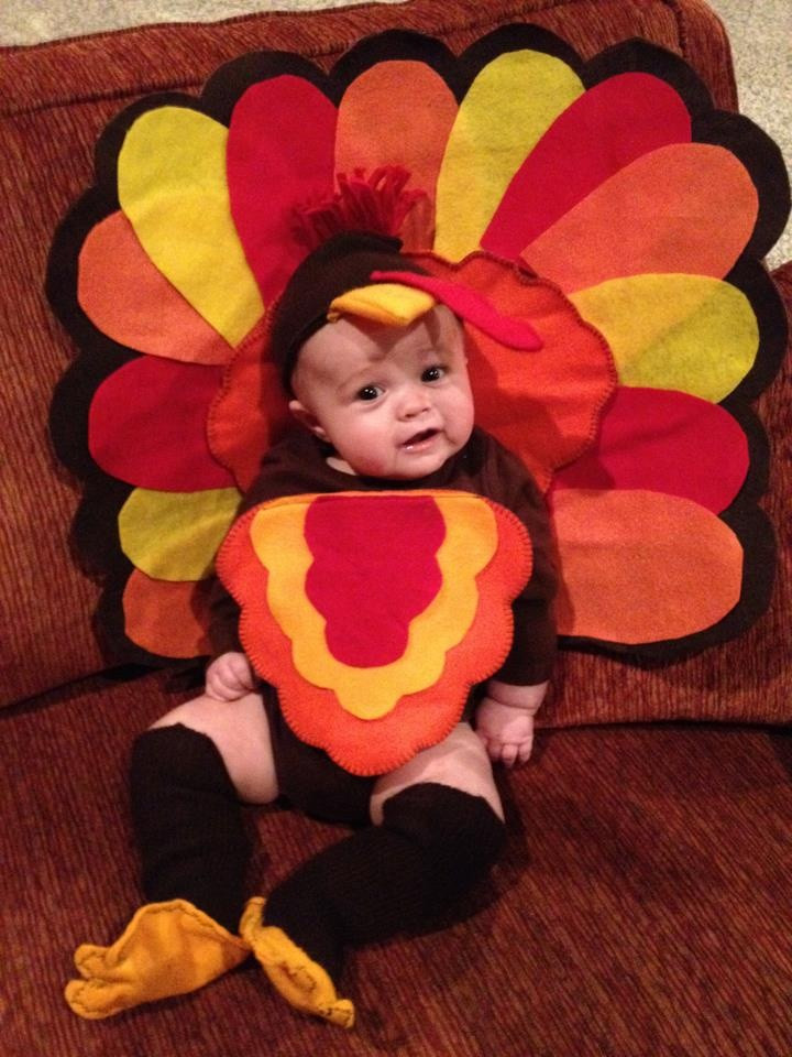 Best ideas about DIY Turkey Costume . Save or Pin Homemade Turkey Costume My sweet little guy Now.