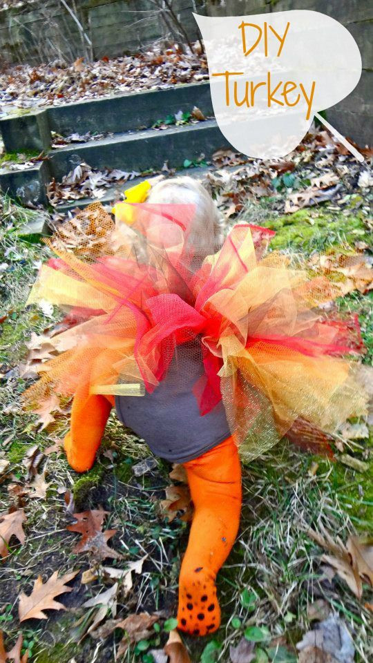 Best ideas about DIY Turkey Costume . Save or Pin DIY no sew Thanksgiving Turkey Costume Now.