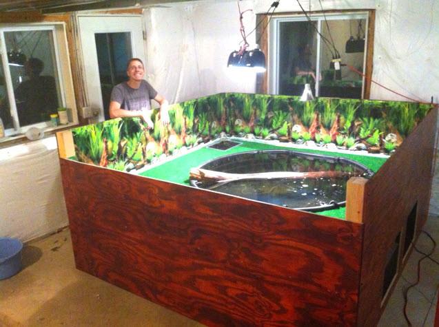 Best ideas about DIY Turtle Tank . Save or Pin DIY Wood Turtle Habitat petdiys Now.