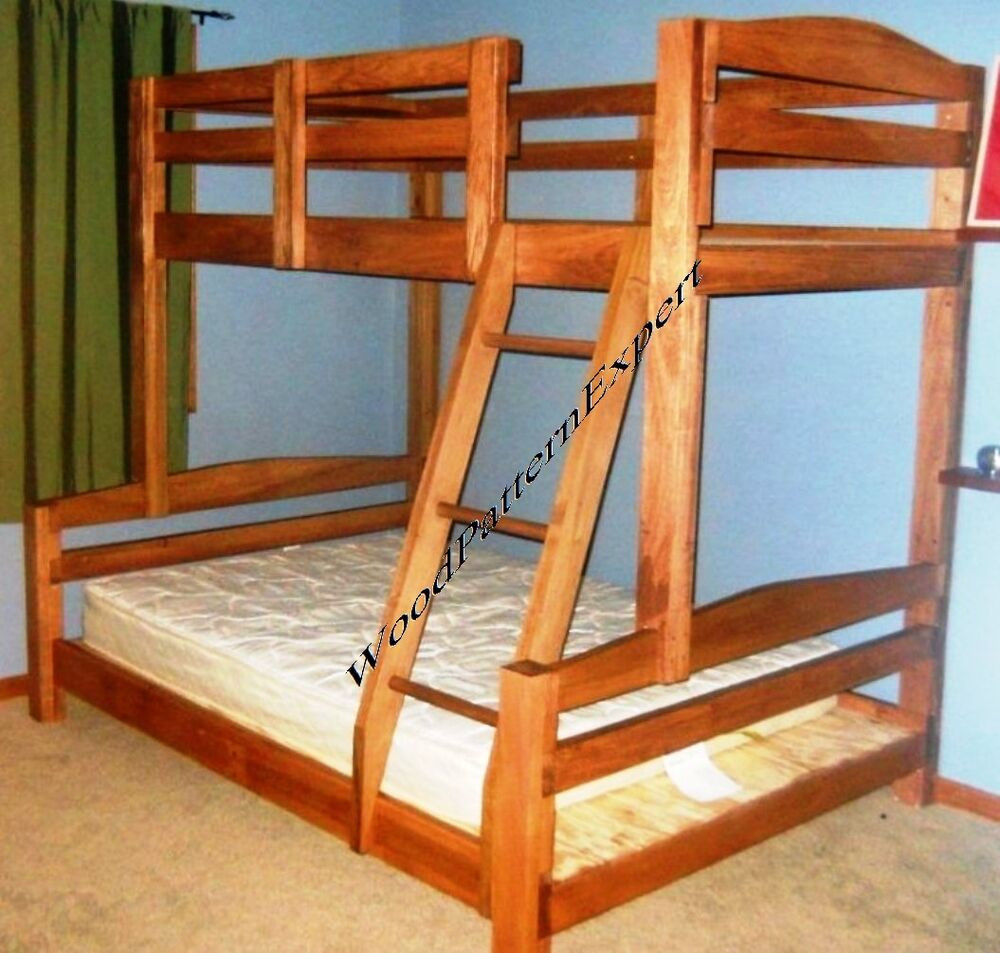 Best ideas about DIY Twin Over Full Bunk Bed . Save or Pin BUNK BED Paper Patterns BUILD KING OVER QUEEN OVER FULL Now.