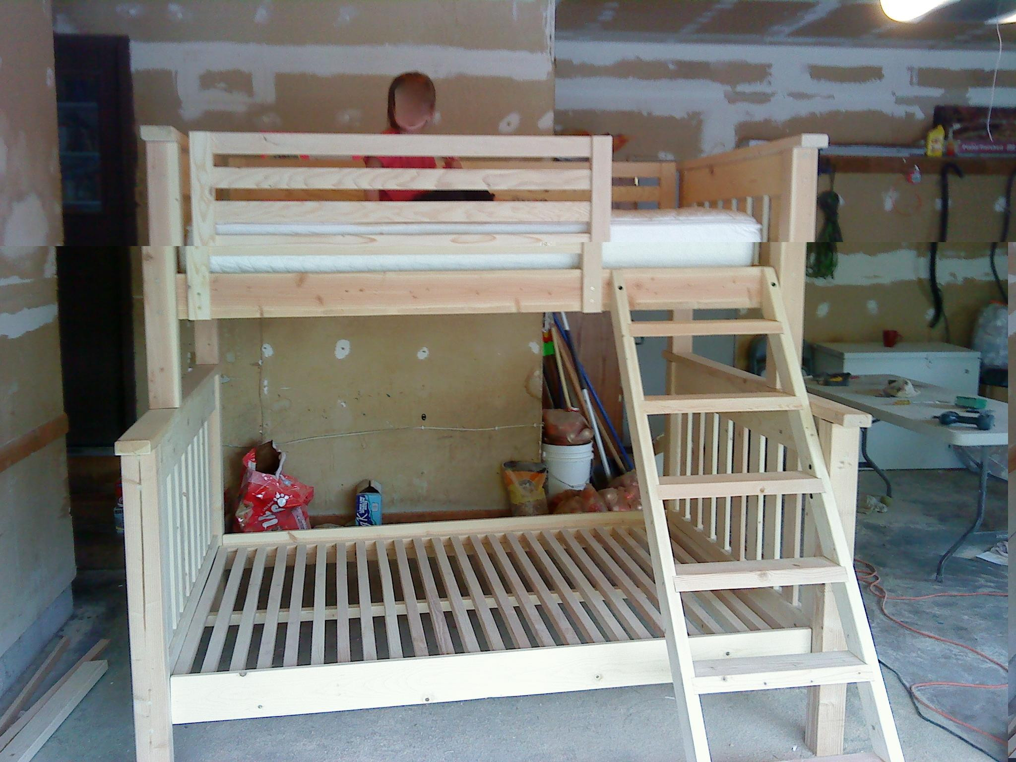 Best ideas about DIY Twin Over Full Bunk Bed . Save or Pin 25 DIY Bunk Beds with Plans Now.