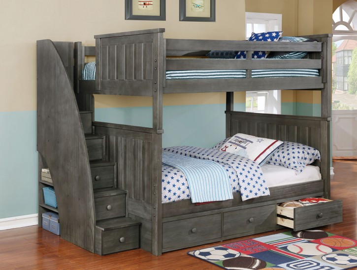 Best ideas about DIY Twin Over Full Bunk Bed . Save or Pin Bedroom Breathtaking Bunk Bed Plans For Bedroom Design Now.