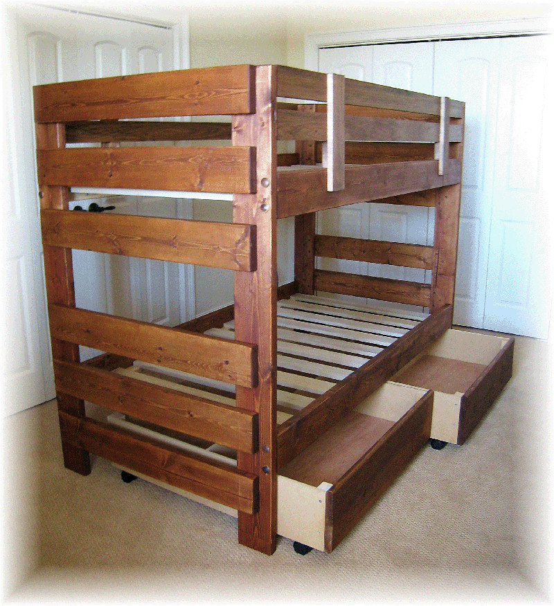 Best ideas about DIY Twin Over Full Bunk Bed . Save or Pin Twin Over Full Bunk Bed Plans Designs bed Now.