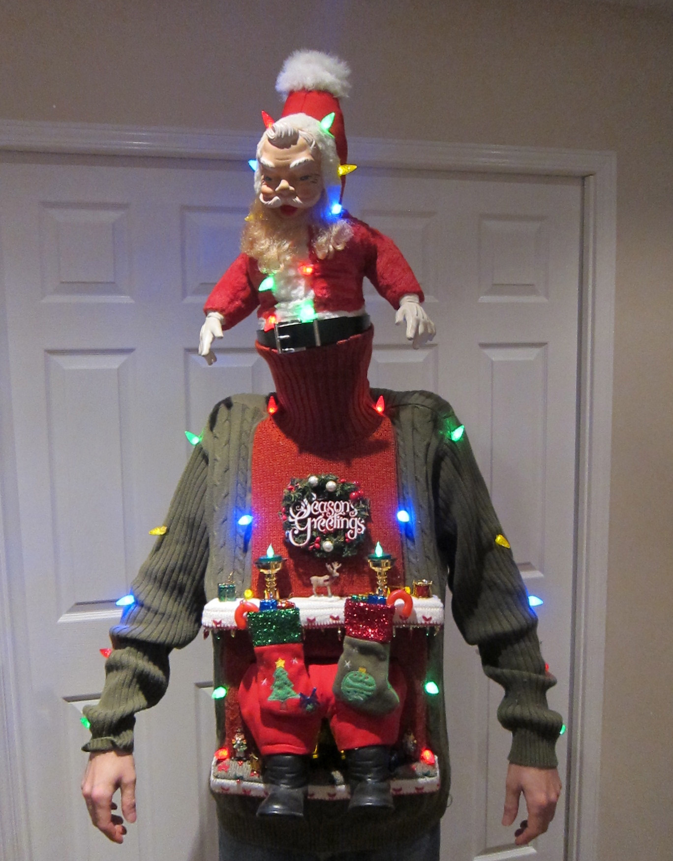Best ideas about DIY Ugly Christmas Sweater . Save or Pin UGLY CHRISTMAS SWEATER DIY Stuck in the Chimney 2012 4 Now.