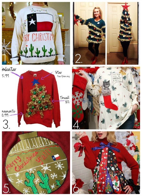 Best ideas about DIY Ugly Christmas Sweaters Ideas . Save or Pin 32 DIY Ugly Christmas Sweaters C R A F T Now.