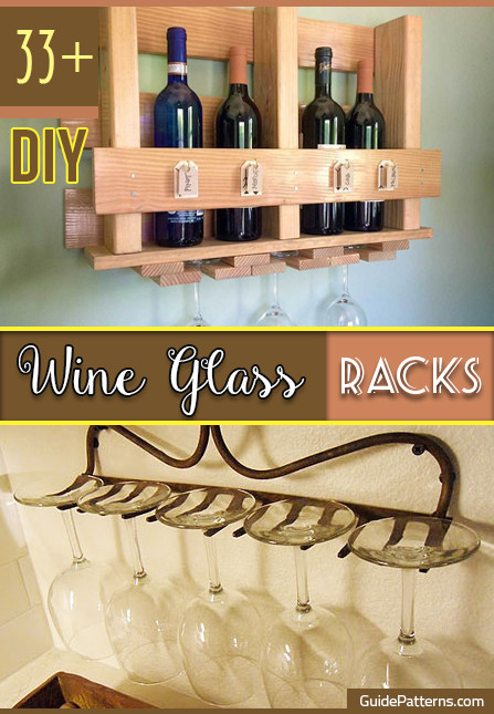 Best ideas about DIY Under Cabinet Wine Glass Rack . Save or Pin 33 DIY Wine Glass Racks Now.
