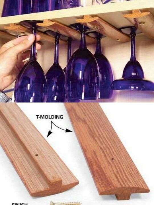 Best ideas about DIY Under Cabinet Wine Glass Rack . Save or Pin 1000 ideas about Wine Rack Uses on Pinterest Now.