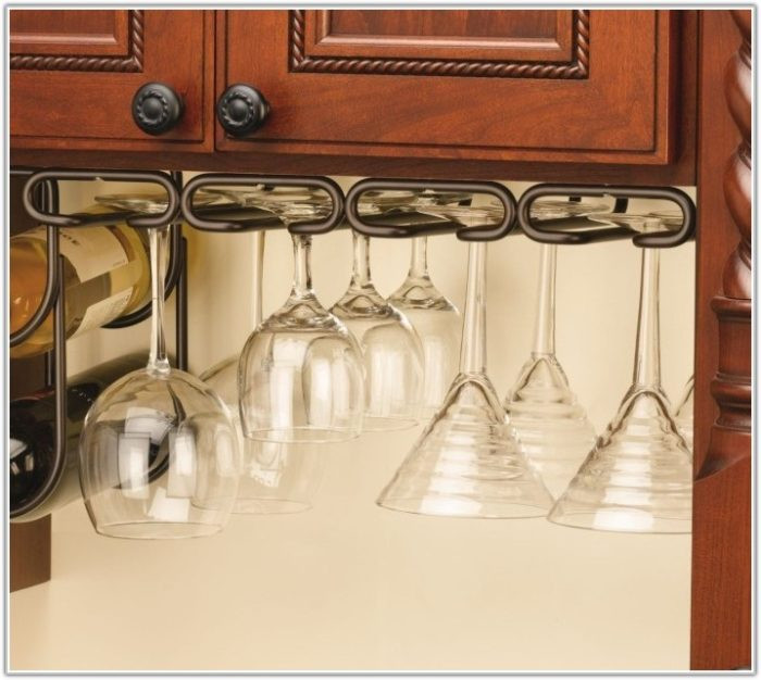 Best ideas about DIY Under Cabinet Wine Glass Rack . Save or Pin Diy Wine Glass Holder Under Cabinet Cabinet Home Now.