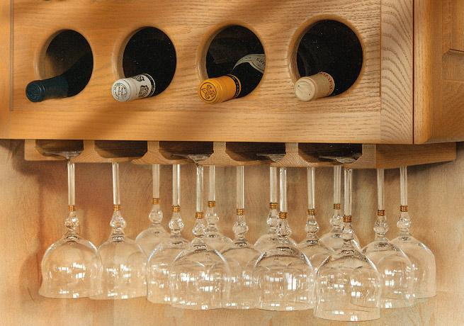 Best ideas about DIY Under Cabinet Wine Glass Rack . Save or Pin Wine Rack With Glass Holder Plans Woodwork Plans How To Now.