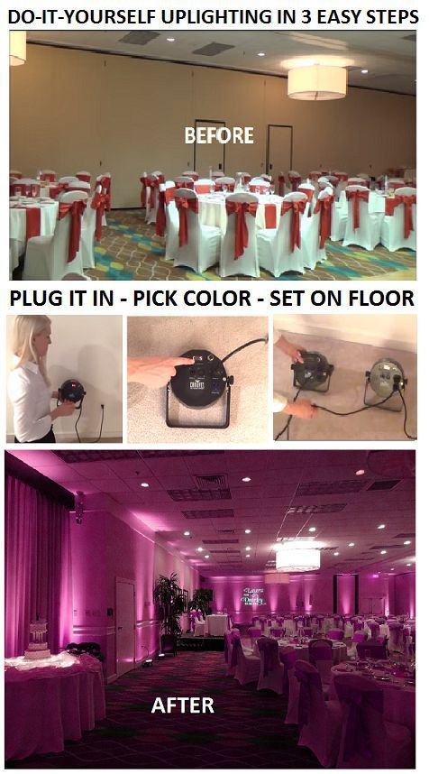 Best ideas about DIY Uplighting Wedding . Save or Pin Do It Yourself Uplighting in 3 Easy Steps 1 Plug It In Now.
