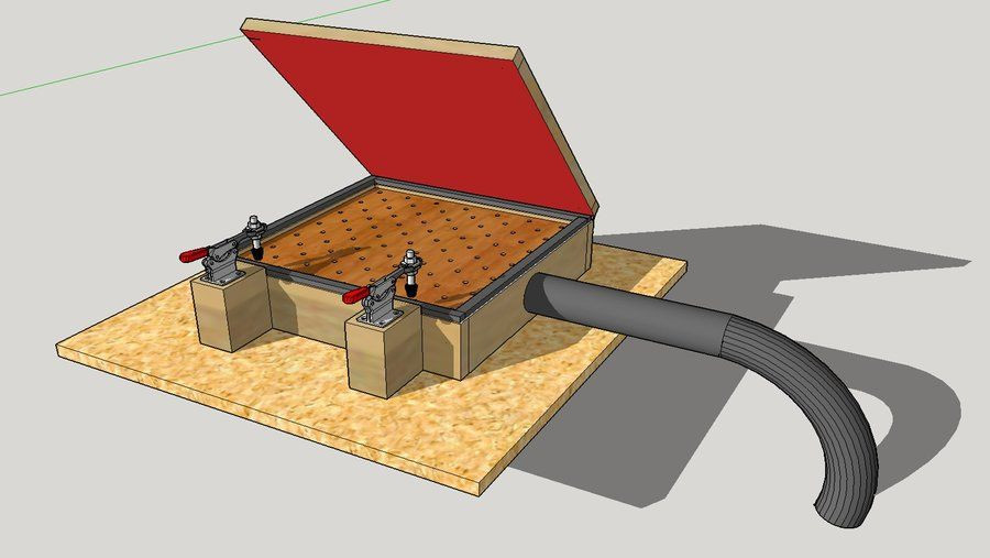 Best ideas about DIY Vacuum Forming Table . Save or Pin Vacuum seal table kydex Now.