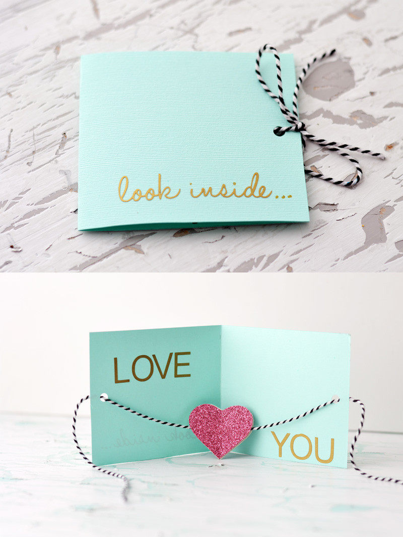 Best ideas about DIY Valentine Day Cards . Save or Pin DIY Valentine's Day Card Little Inspiration Now.