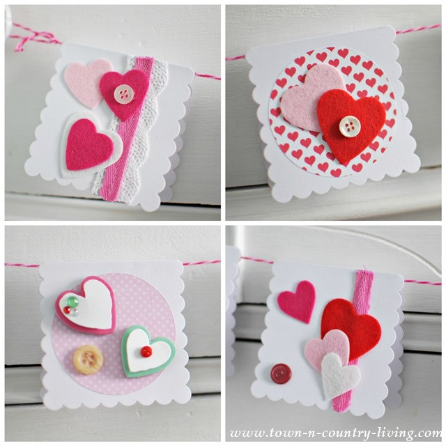 Best ideas about DIY Valentine Day Cards . Save or Pin Homemade Valentine s Day Cards Town & Country Living Now.