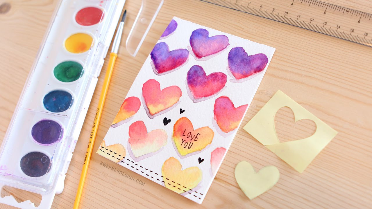 Best ideas about DIY Valentine Day Cards . Save or Pin Easy DIY Valentine s Day Card Made with Minimal Supplies Now.
