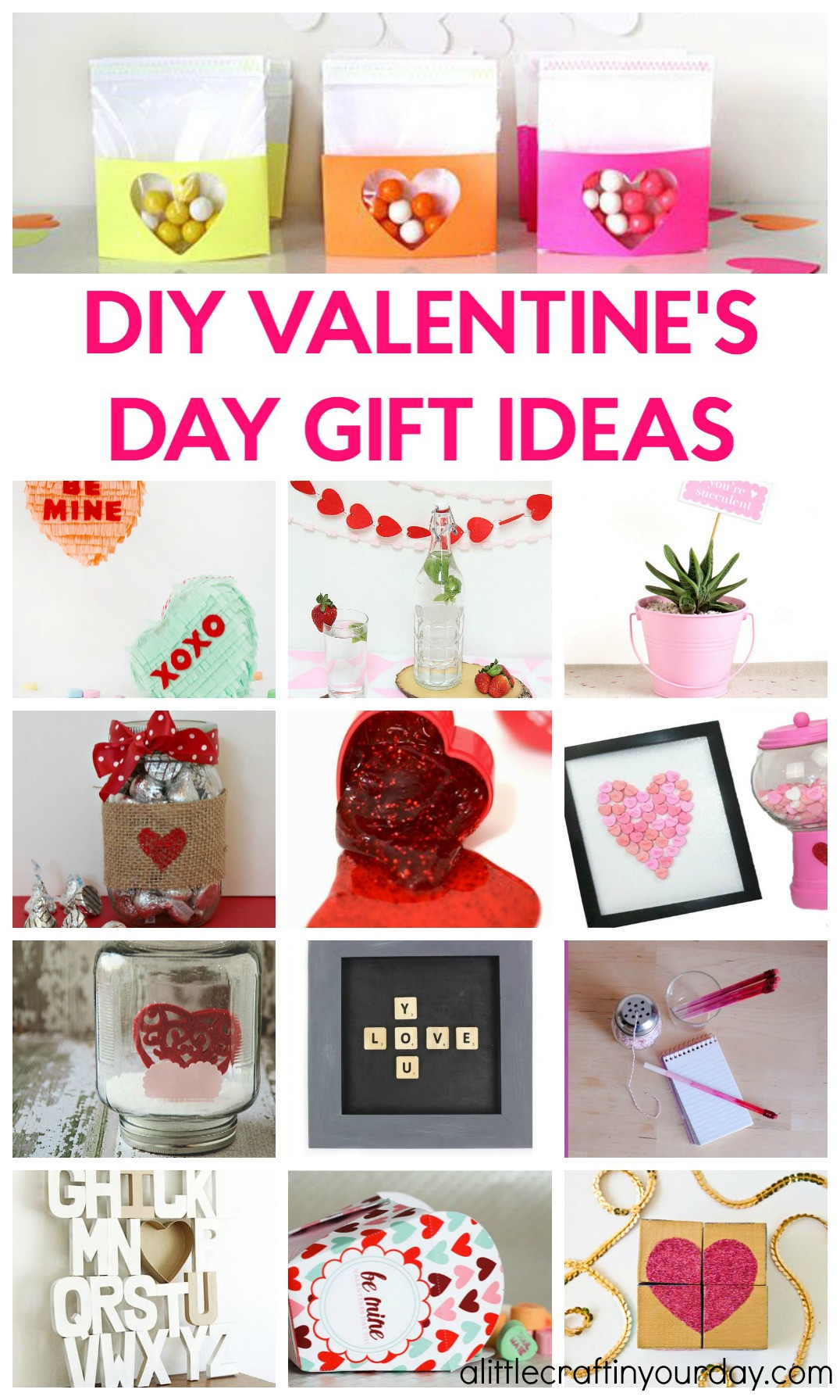 Best ideas about Diy Valentine Day Gift Ideas . Save or Pin DIY Valentines Day Gift Ideas A Little Craft In Your Day Now.