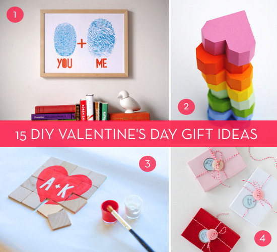 Best ideas about Diy Valentine Day Gift Ideas . Save or Pin A Very Valentine s Day Roundup 15 DIY V Day Gift Ideas Now.