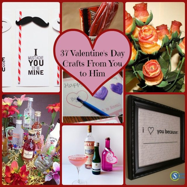 Best ideas about Diy Valentine Gift Ideas For Boyfriend . Save or Pin 37 Simple DIY Valentine s Day Gift Ideas From You to Him Now.