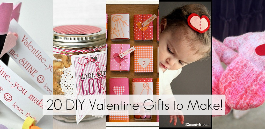 Best ideas about DIY Valentine Gifts . Save or Pin 20 DIY Valentine Gifts to Make Now.