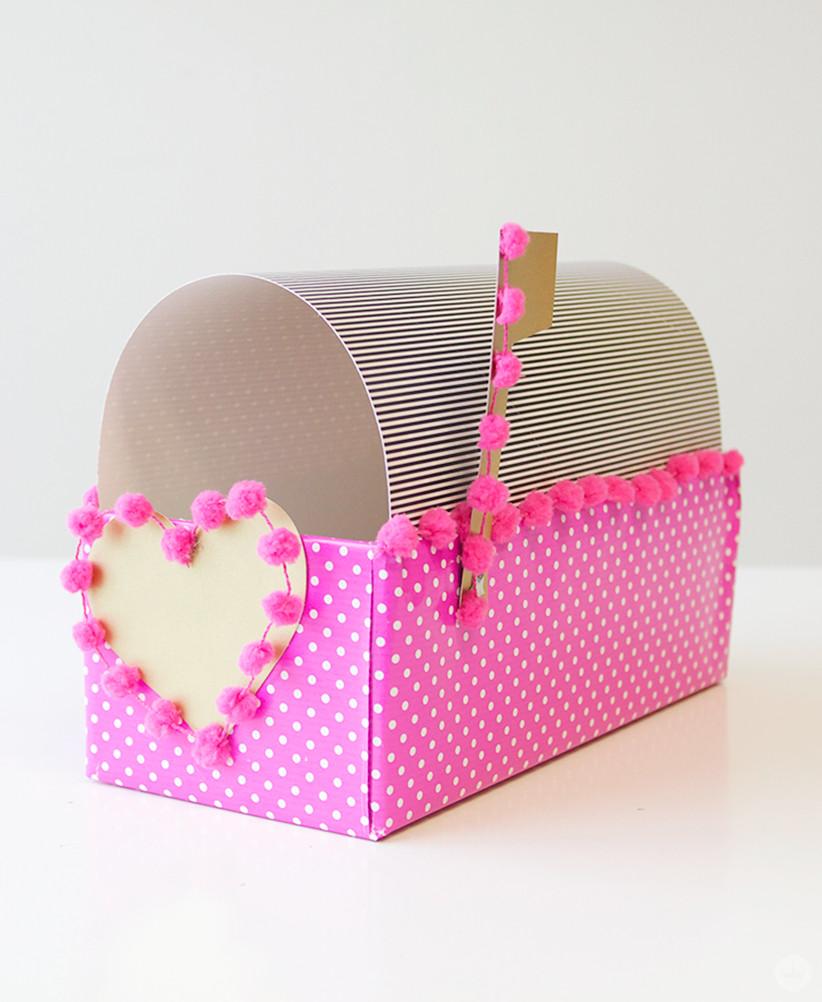 Best ideas about DIY Valentine Mailbox . Save or Pin DIY Valentine Box Think Make Now.