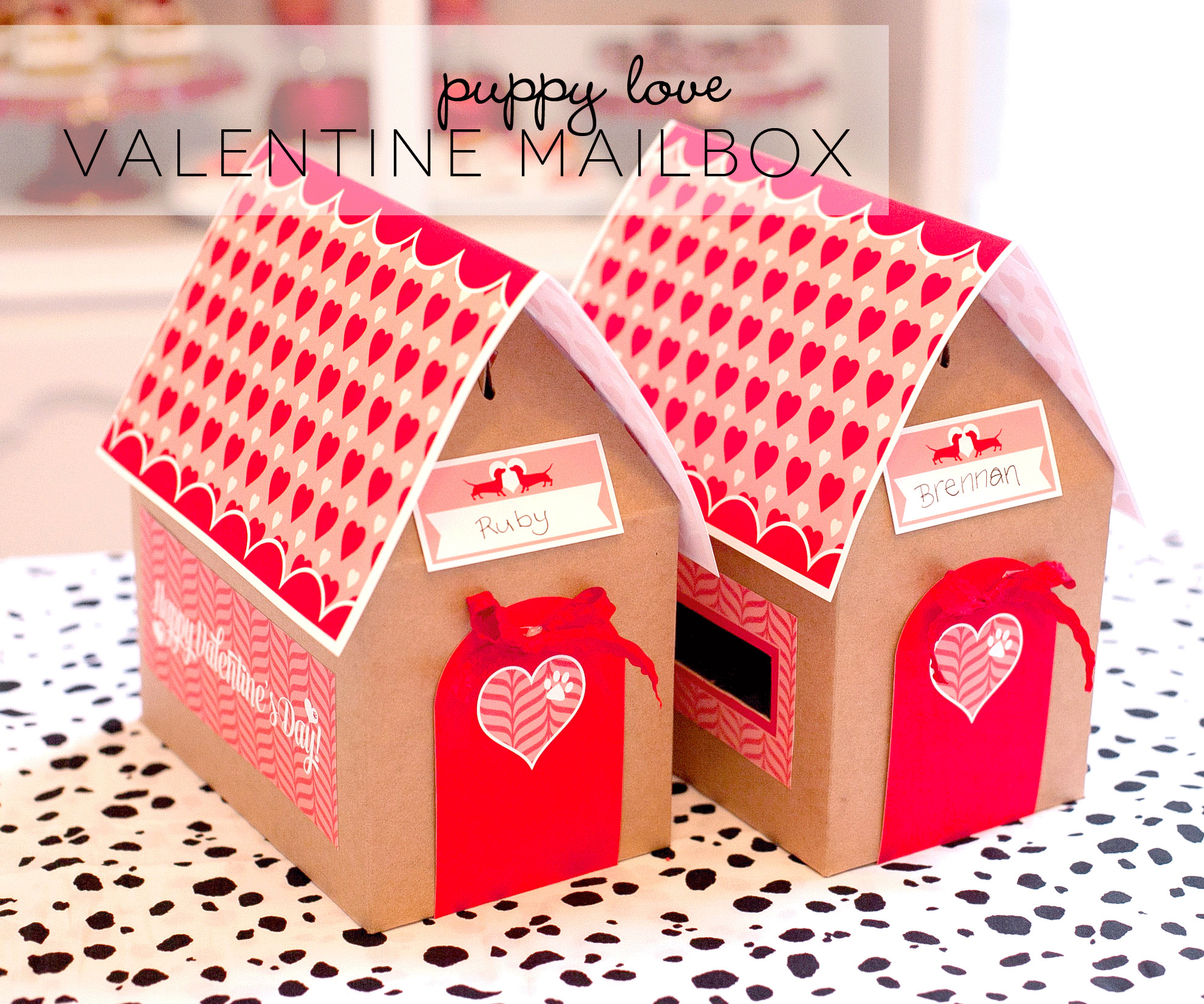Best ideas about DIY Valentine Mailbox . Save or Pin Free Printable Valentine Mailbox Project Nursery Now.
