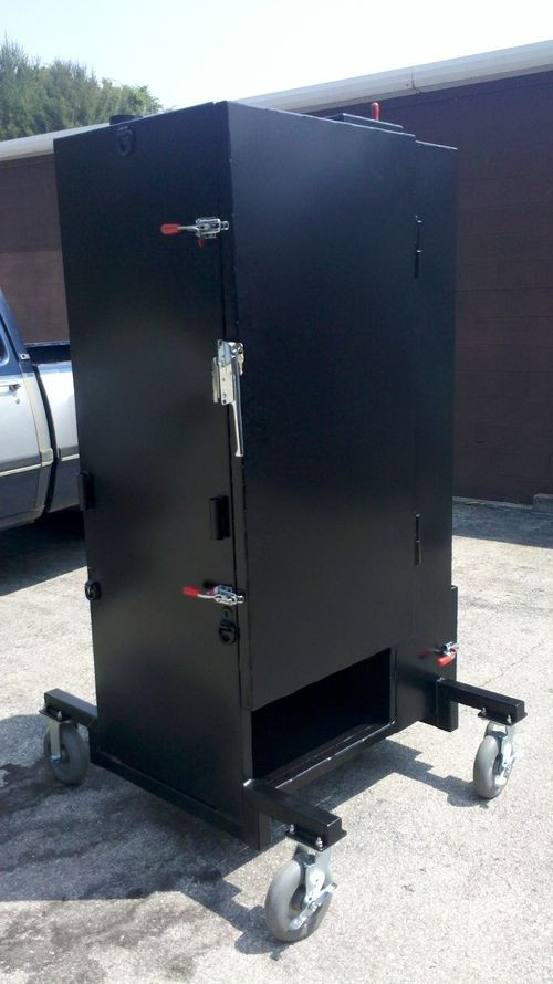 Best ideas about DIY Vertical Smoker Plans . Save or Pin Build a Gravity Feed Smoker like this Now.