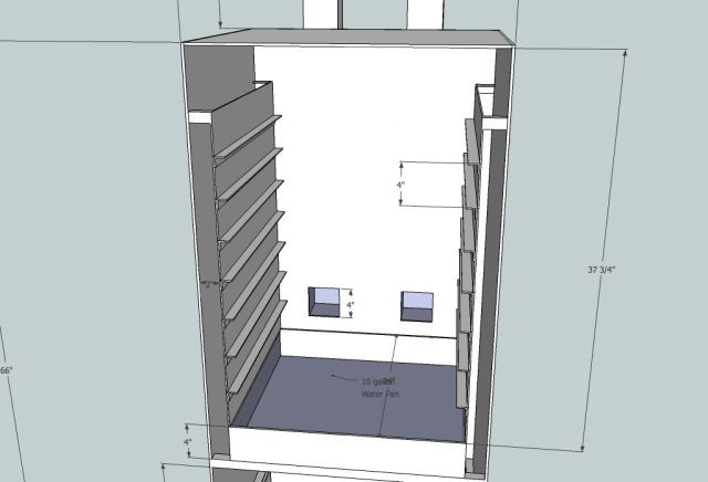 Best ideas about DIY Vertical Smoker Plans . Save or Pin Vertical Smoker heat smoke raceway up sides exhaust out Now.