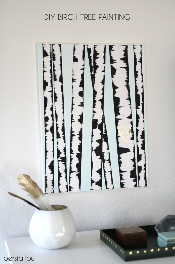 Best ideas about DIY Wall Art Painting . Save or Pin Make DIY Birch Tree Art Persia Lou Now.