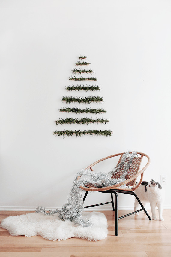 Best ideas about DIY Wall Christmas Trees . Save or Pin DIY Makeshift Christmas Tree Wall Hanging Now.
