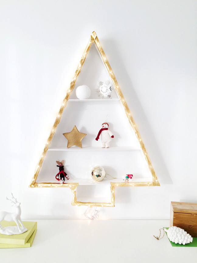 Best ideas about DIY Wall Christmas Trees . Save or Pin Christmas Tree Alternative DIY Wall Light Christmas Tree Now.