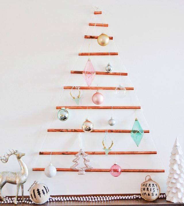 Best ideas about DIY Wall Christmas Trees . Save or Pin DIY Wall Mounted Copper Pipe Christmas Tree Now.