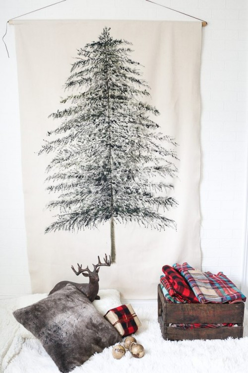 Best ideas about DIY Wall Christmas Trees . Save or Pin Original Holiday Decor 13 DIY Wall Christmas Trees Now.