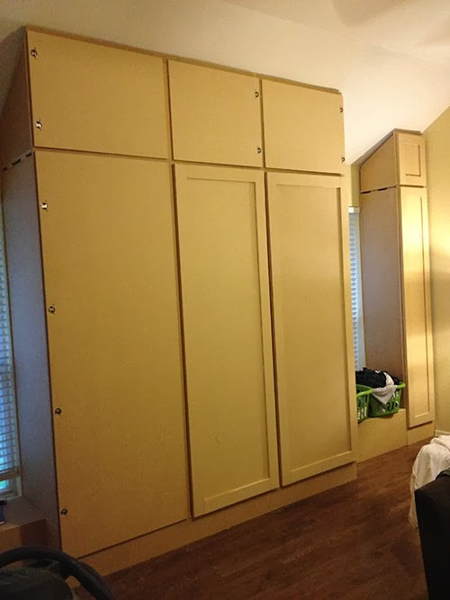 Best ideas about DIY Wall Closet . Save or Pin The Happy Homebo s DIY How to Build a Wall of Closets Now.