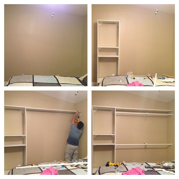 Best ideas about DIY Wall Closet . Save or Pin DIY Closet Have a plain wall Need more closet space Now.